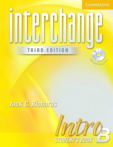 INTERCHANGE INTRO B STUDENT'S BOOK WITH CD-AUDIO