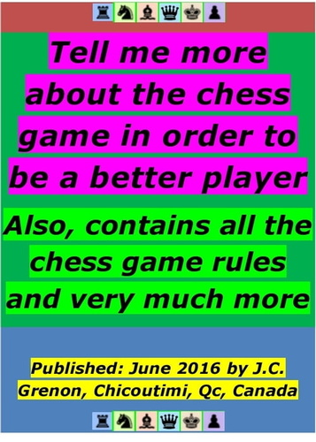 eBooks - tell me more about the chess game in order to be - 1230001149135
