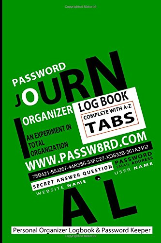 your personal organizer logbook & password keeper