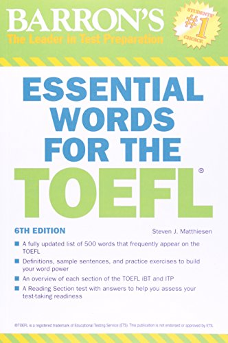 Barrons essential words for the toefl fandeluxe Images