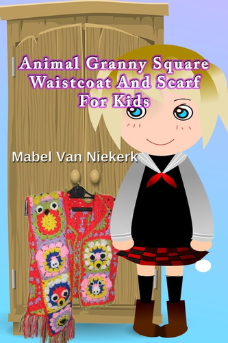 animal-granny-square-waistcoat-scarf-for-kids