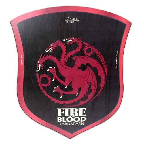 placa decorativa 30x25x1cm got targaryen escudo