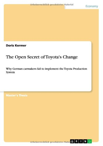 open secret of toyota's change, the