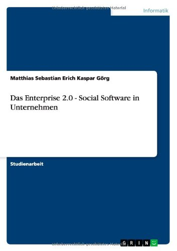 enterprise 2.0 - social software in, das
