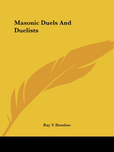 masonic duels and duelists