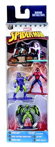 jada - metal nano marvel - pack com 5